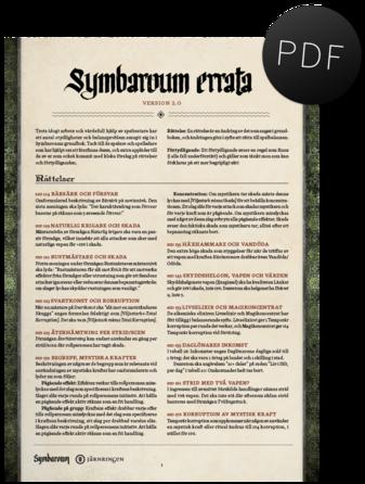 Symbaroum – errata