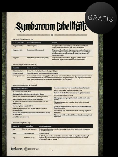 Symbaroum – tabellhäfte